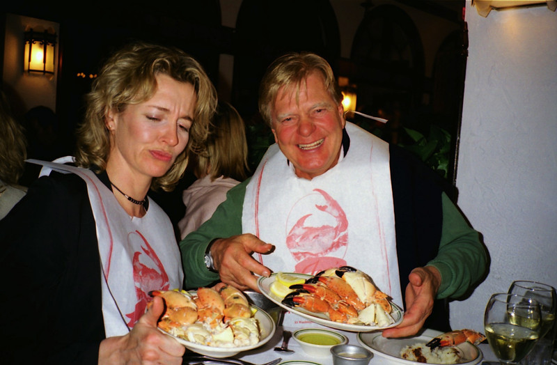 Sandra + Victor Erdmann at Joe's Stone Crabs, South Beach.