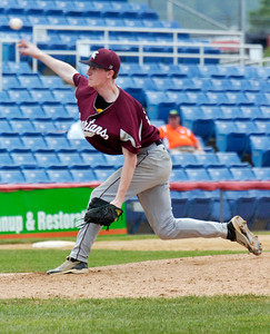 Burnt Hills-Ballston Lake's pitcher Devin Stark during their winning State Championship baseball game against Pittsford Surtherland in Binghamton Sunday afternoon. Photo Erica Miller 6/12/11 spt_BHBLwin5_Mon