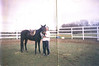 Me and Ollie, my first horse.  I was the first person to ever ride him.