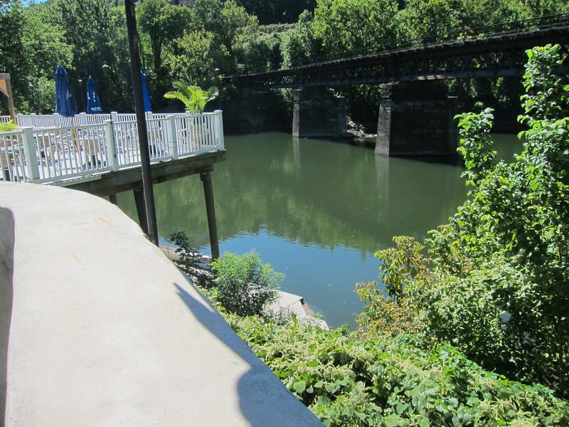 Schuylkill River from restaurant dining deck.