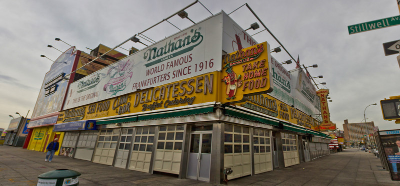 Nathans Original - Coney Island NY - 2 weeks before Hurician Sandy