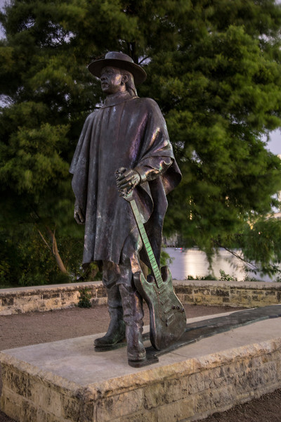 Stevie Ray Vaughn Statue in Austin TX