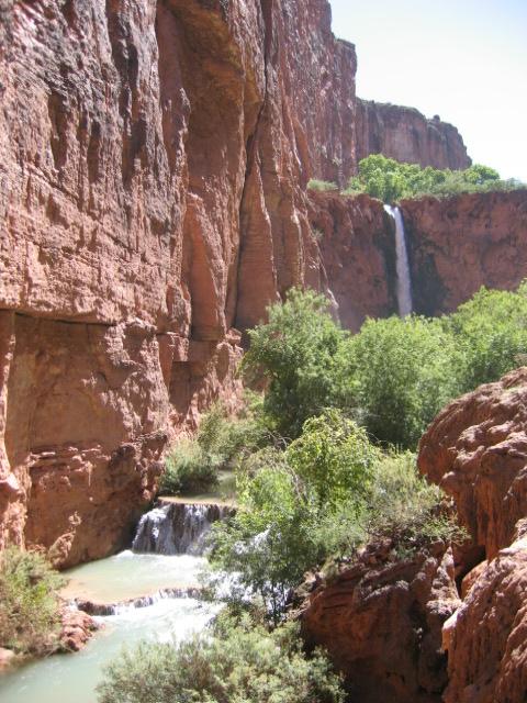 Look back upstream at Mooney falls