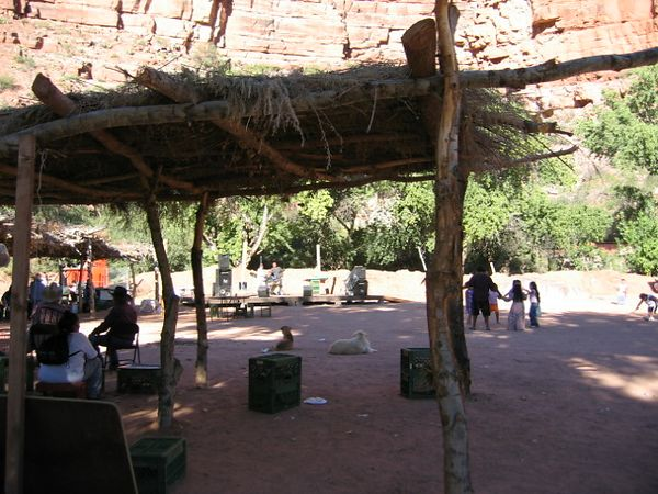 The town square in Supai village