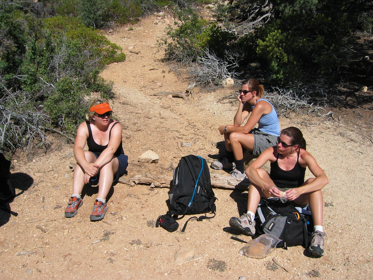 Lunch break, near the top of Mystery Canyon
