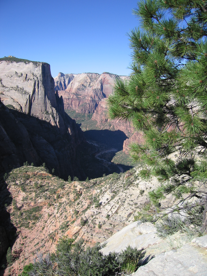 Looking down into Zion and the Virgin River drainage