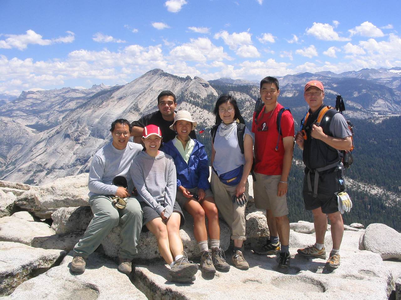 """here's our group shot from the top.  we also filmed a short """"happy birthday"""" video for collin here."""