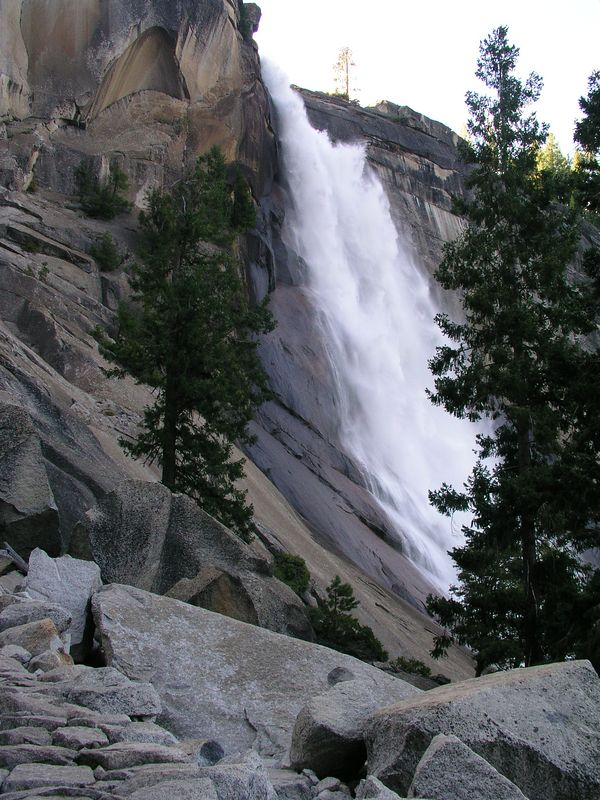 nevada falls was also quite powerful, but since we were farther from the falls, there was little mist on the trail.