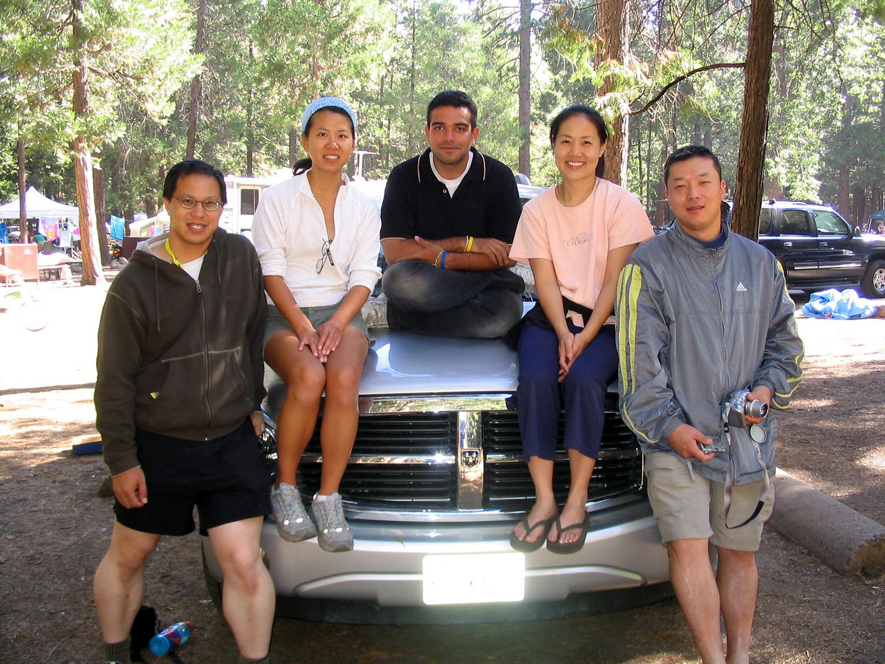 the five of us who carpooled up from sunnyvale--yay!  all of us survived!