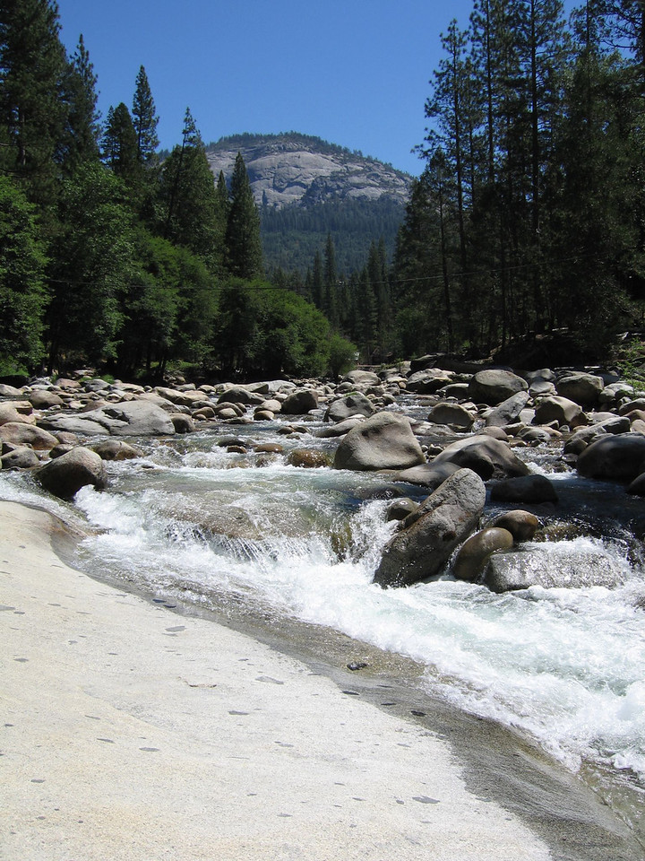 IMG_0186 <br /> The Merced River.  Wawona dome in the background