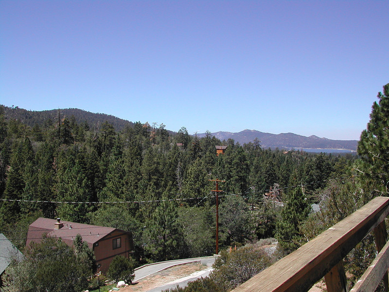 BigBear-Aug-2002 009 <br /> A view from the cabin deck.