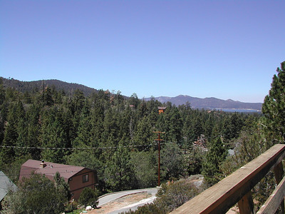 BigBear-Aug-2002 009  A view from the cabin deck.