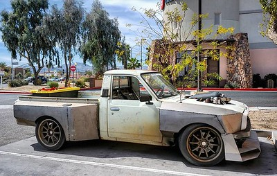 Ridin around 3 deep with my boys @loganbutterworth and @azwillis in the Arizona sunshine! #toyotapickup #hilux #jalopnik #toyota #sloppymechanics #protouring #3khooptiechallenge #widebody #stance #turbo #crownvic #p71 #madram11 #becauseroadkill #webegambling #driftmissile #missilecar #lsx #v8swap #becauseracetruck #gotboost #formuladrift #tigweld #minitruck #worldtimeattack #timeattack #killalltires #madmax #vagueind