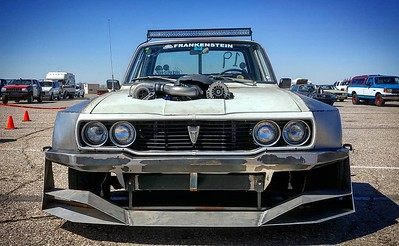 All ready for the @roadkillshow 3K Hooptie Challenge! A little bit of boost and a little bit of juice fills me with confidence. #toyotapickup #hilux #jalopnik #toyota #sloppymechanics #protouring #3khooptiechallenge #widebody #stance #turbo #crownvic #p71 #madram11 #becauseroadkill #webegambling #driftmissile #missilecar #lsx #v8swap #becauseracetruck #gotboost #formuladrift #tigweld #minitruck #worldtimeattack #timeattack #killalltires #madmax #vagueind