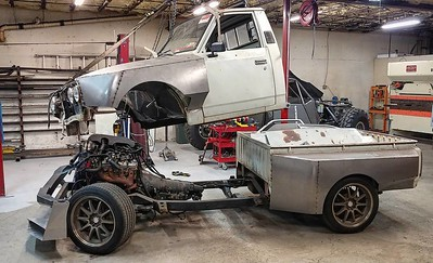 5 days until i need to be on the road to @roadkillshow 3k hooptie challenge.... No big deal #toyotapickup #hilux #jalopnik #toyota #rn23 #protouring #buildthreads #22r #widebody #stance #turbo #crownvic #p71 #madram11 #becauseroadkill #webegambling #driftmissile #missilecar #lsx #v8swap #becauseracetruck #gotboost #formuladrift #tigweld #minitruck #worldtimeattack #timeattack #killalltires #madmax #vagueind
