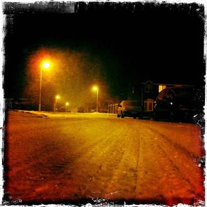 Streetlit Snow