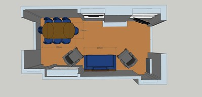 Here I've filled the room with storage but moved the bookcase which would give you a large wall to put the table (most likely this would be an extending table from smaller round) .