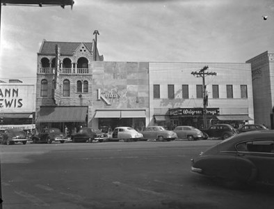 The 1500 block of Main Street (east side) featuring Eckerd's, Kohn's, and Walgreen Drugs. Courtesy of the John Hensel Photograph Collection  and University of South Carolina.