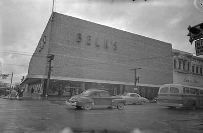 Belk on Main Street. Courtesy of the John Hensel Photograph Collection and University of South Carolina.