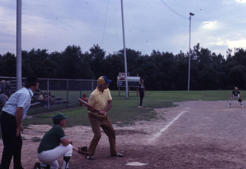Intramural softball game, 1979