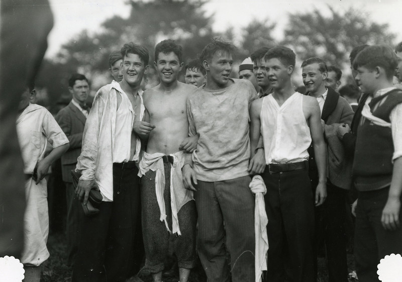 Students after Cane Rush event, 1927