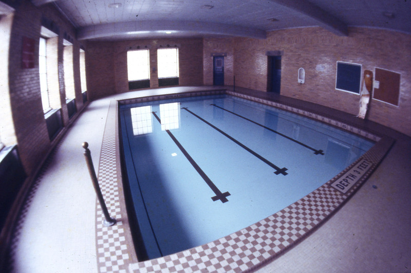 Small pool in Larkins Hall, 1978