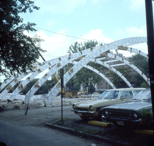Construction of athletic facility, 1978