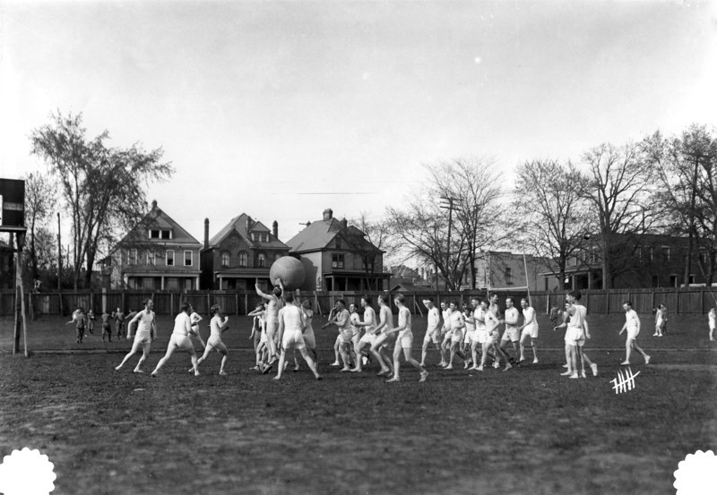 Medicine Ball Game at Old Ohio Field, 1920
