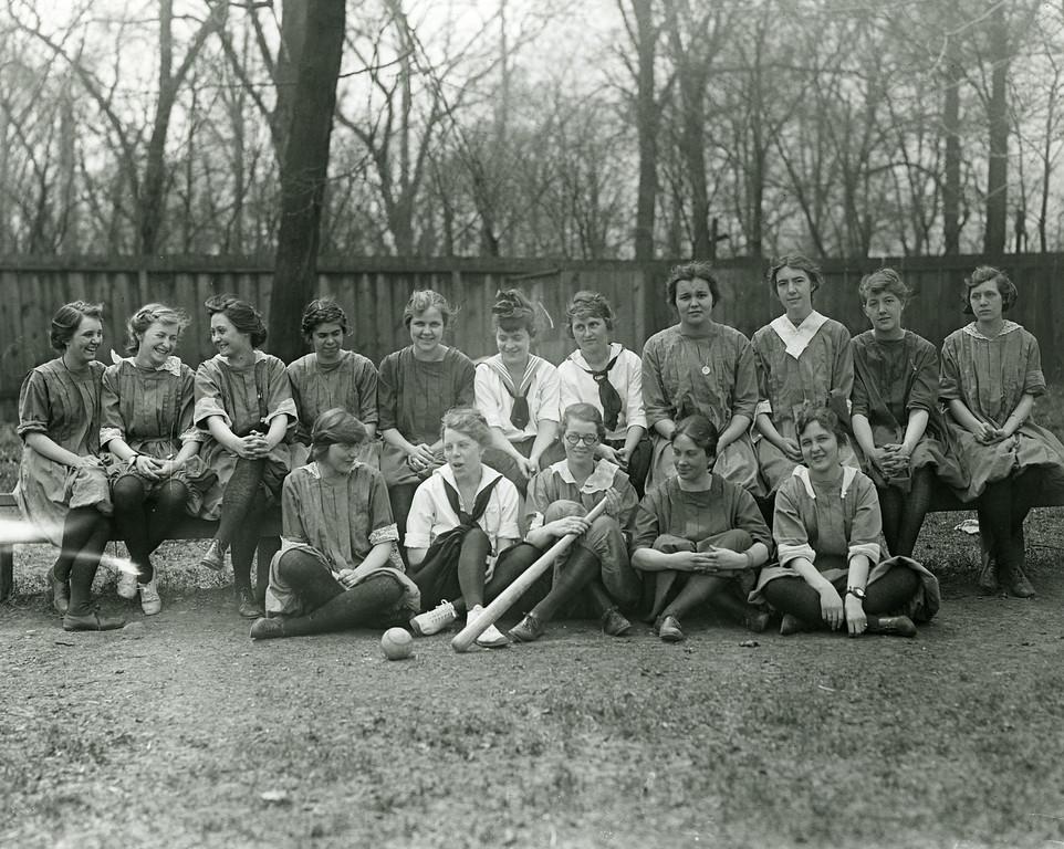 Women's Baseball Class, c1919