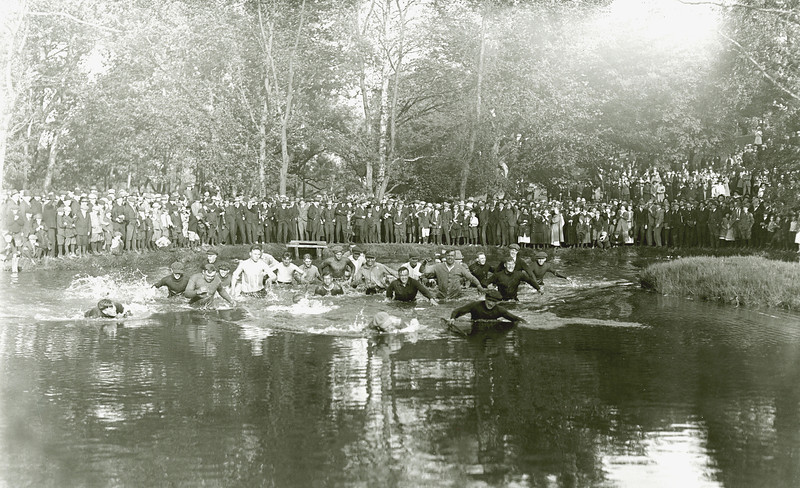 Tug o War in Mirror Lake, 1916