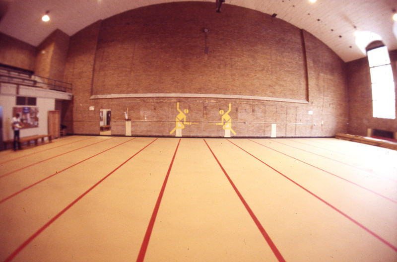 Court inside Jesse Owens athletic facility, 1978