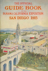 Here is the official guide to the 1915 Panama California Exposition.  This exposition formed Balboa Park as we know it today.  I've omitted a section of pages which are a list of plant species grown on the grounds of the event.  This is a very good scan of the document.  Copies are available from various sources, but the scan quality is bad on the ones I've seen online.