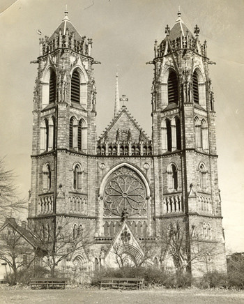 Two of the city's most successful Irishman designed and built Newark's landmark Sacred Heart Cathedral, one the finest examples of French Gothic architecture in the United States. Jeremiah O'Rourke designed and Edward M. Waldron built it, Irish laborers providing the muscle along the way. It took 56 years, 1898 to 1954, to complete.