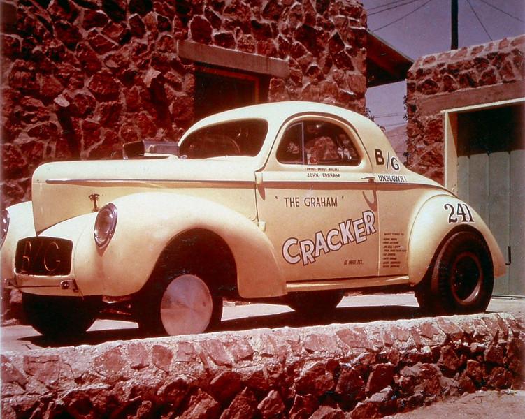 A Local Racer named John Graham's Gasser nicknamed the Graham Cracker!