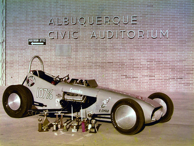 A car on Display in front of the Old Civic Auditorium in 1963-64?