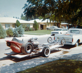Woody Tuckers Slingshot Dragster in the 1960's