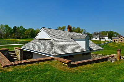 The Dairy. The Lower House in the background along with the Slave Quarters and the housing for tenant farmers