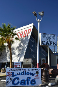 Ludlow Cafe, Ludlow Calfornia. This is the new Ludlow Cafe, open for business just off Rt. 40.