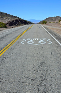 Historic Route 66, California looking west
