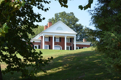 Brompton House, on the heights above the Fredericksburg Battlefield.