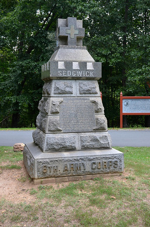Monument to Gen. Sedgwick who was killed near this monument. Sedgwick was the highest ranking Union Officer to be killed during the Civil War.