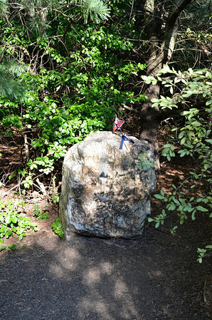 This Boulder, marks the spot where Gen. Stonewall Jackson was shot by his own soldiers.