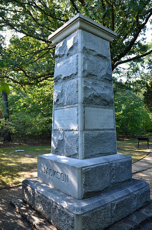 Gen. Stonewall Jackson, Chancellorsville Battlefield. Jackson was shot near this monument by his own soldiers.