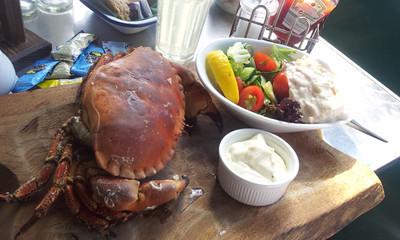Hive Beach Café Brown Crab 22-08-2013 15-07-09