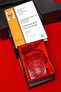 The Hall of Fame award and booklet.