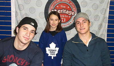 Sammy meets Tyler Bozak and Luca Caputi.