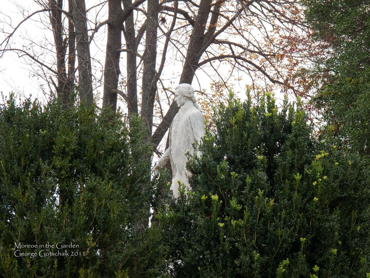 James Monroe in the garden of his Virginia home.
