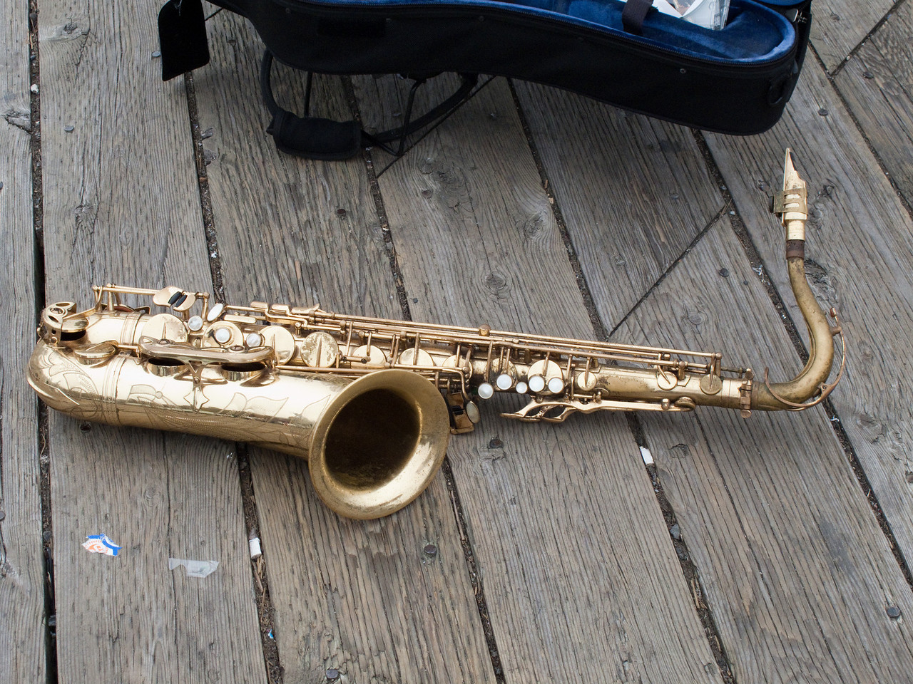 Sax left sitting idle by owner at the dock in Halifax.