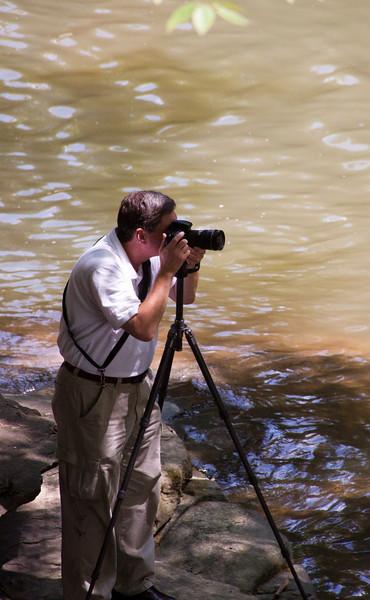 A friend shooting a waterfall in near Thurmond West Virginia
