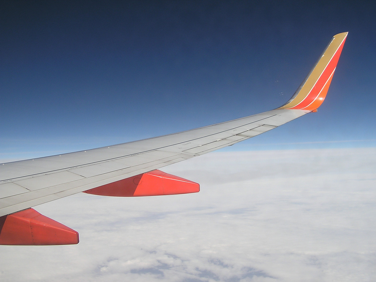 Southwest behind the wing